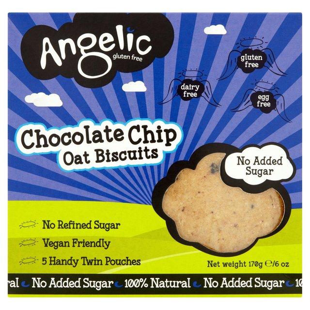 Angelic Gluten Free Chocolate Chip Oat Biscuits Ocado