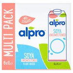 Alpro Longlife Unsweetened Soya Milk Alternative
