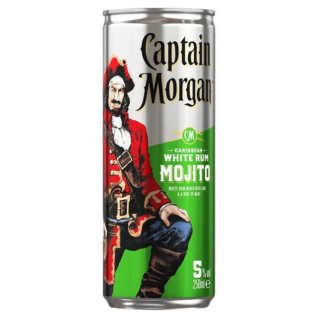 Captain Morgan White Rum Mojito Premix Ocado
