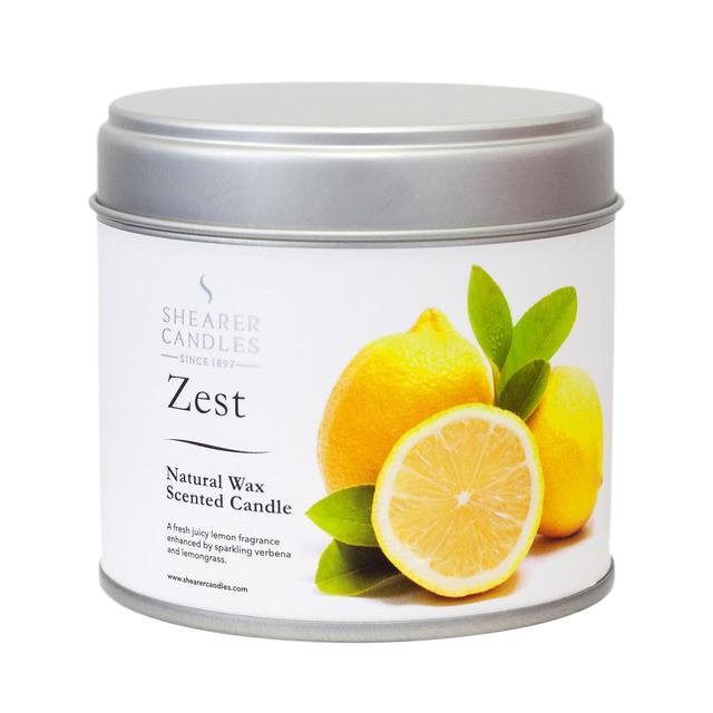 Shearer candles natural spa zest scented candle tin 40hr for Spa smelling candles