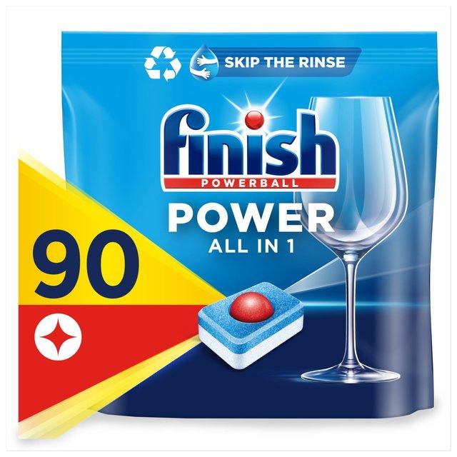 Finish All in 1 Max Dishwasher Tablets Lemon Scent   Ocado