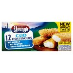 Young's 12 Wheat & Gluten Free Cod Fingers Frozen