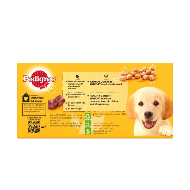 Pedigree Puppy Food Tins Mixed Selection In Jelly 6 X 400g From Ocado