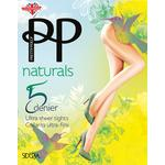 Pretty Polly 5 Denier Black Tights, Naturals Sideria, S/M