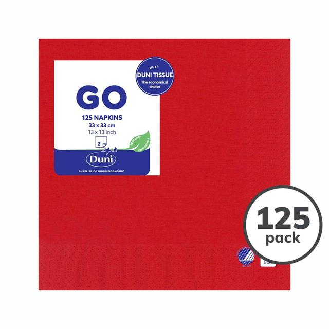 Red 2ply Paper Napkins, 33cm