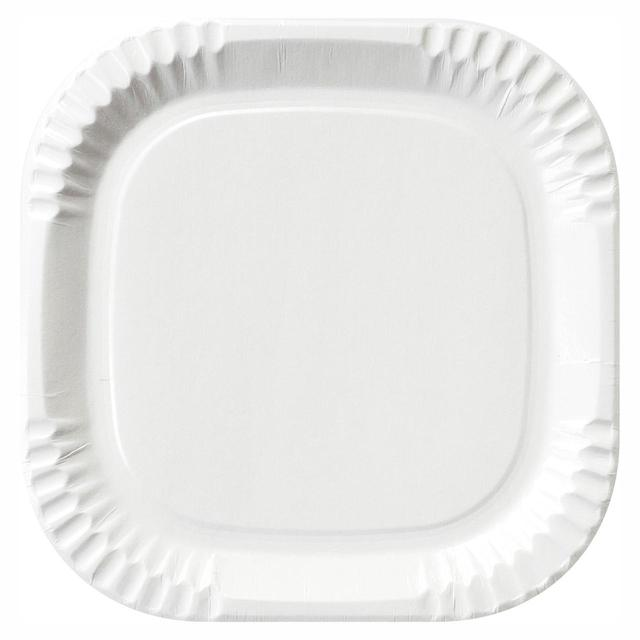 Duni White Paper Square Paper Plate 22cm  sc 1 st  Ocado & Duni White Paper Square Paper Plate 22cm 20 per pack from Ocado