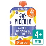 Piccolo Organic Apple, Banana & Blueberry with Hint of Vanilla