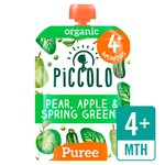Piccolo Organic Spring Greens Apple & Pear