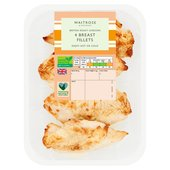 Waitrose British 4 Roast Chicken Breast Fillets