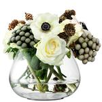 LSA Flower Table Arrangement Vase, Clear