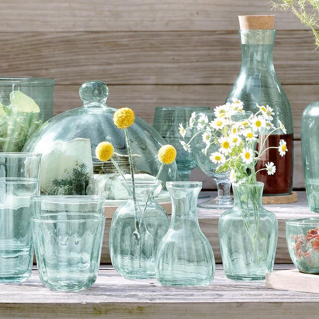 Lsa Mia Mini Recycled Glass Vase Trio 115cm From Ocado