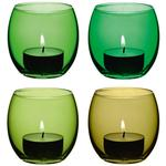 LSA International Coro Tealight Holder 6.5cm  Leaf Assorted