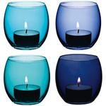 LSA International Coro Tealight Holder 6.5cm Lagoon Assorted