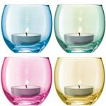 LSA International Polka Tealight Holder 6.5cm Pastel Assorted