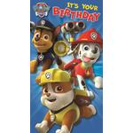 Paw Patrol Birthday Card with Stickers