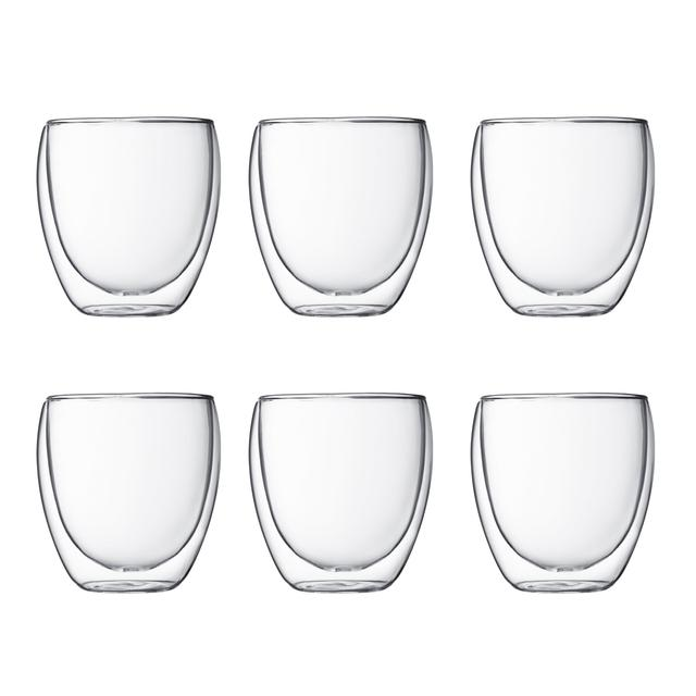 Bodum Pavina Double Wall Cups, Set of 6, 250ml