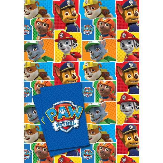 Paw Patrol Gift Wrap Sheets 2 Per Pack
