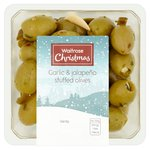 Waitrose Garlic & Jalapeno Stuffed Olives