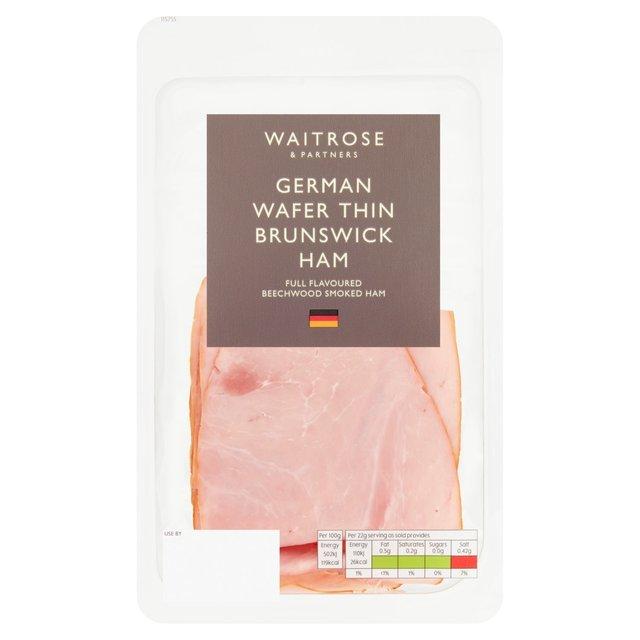 Waitrose Wafer Thin Brunswick Ham 125g From Ocado