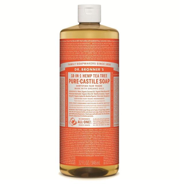 Dr. Bronner's Organic Tea Tree Castile Liquid Soap