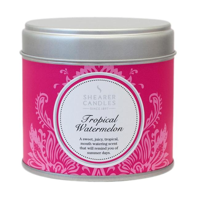 Shearer Candles Tropical Watermelon Scented Candle Tin, 40hr