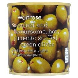 Waitrose Hot Pimento Stuffed Olives | Ocado