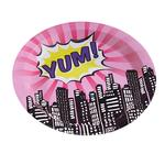 Ginger Ray Pink Pop Art Party Paper Plates
