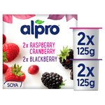 Alpro Raspberry & Blackberry Yogurt Alternative