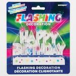 Flashing Happy Birthday Cake Decor