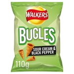 Walkers Bugles Sour Cream & Black Pepper Snacks