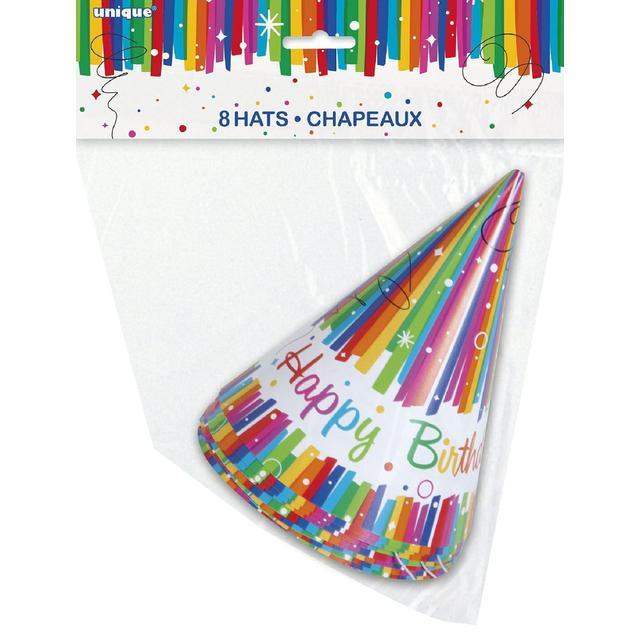Rainbow Birthday Party Hat 8 Per Pack From Ocado