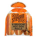 St Pierre Sliced Brioche Hot Dog Rolls