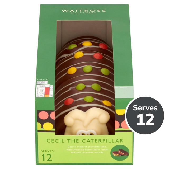 Waitrose Caterpillar Cake 12 Servings 740g From Ocado