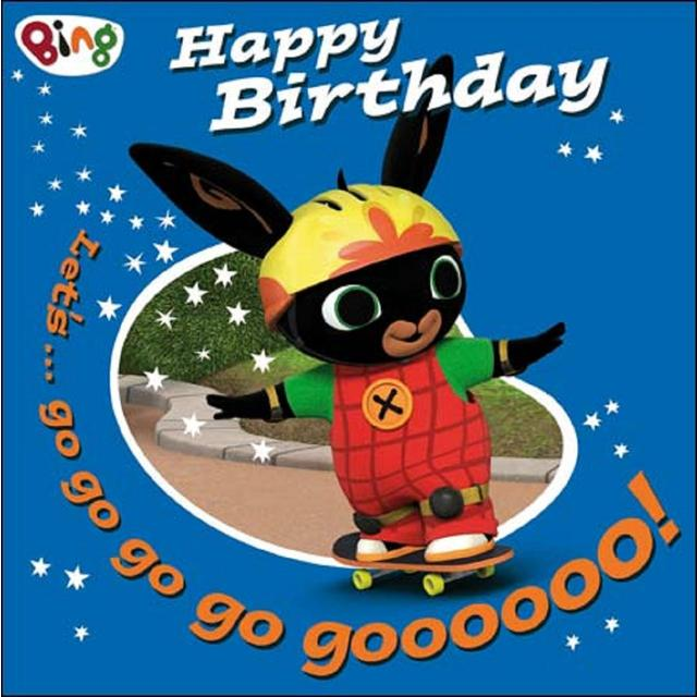 Bing Skateboard Birthday Card from Ocado – Cbeebies Birthday Cards Youtube