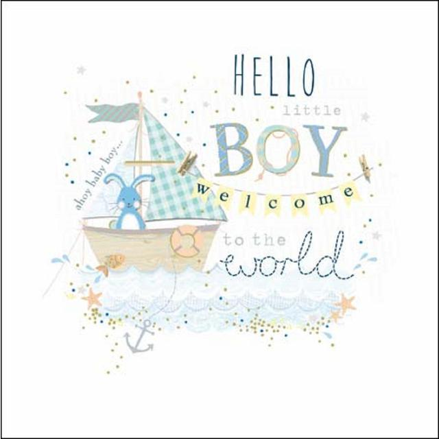 Little Boy Welcome To The World Card From Ocado