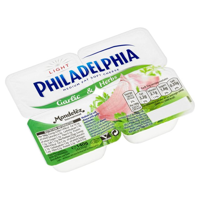 Philadelphia Light Garlic & Herb Mini Tub from Ocado