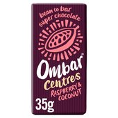 Ombar Raspberry & Coconut Raw Chocolate Centre