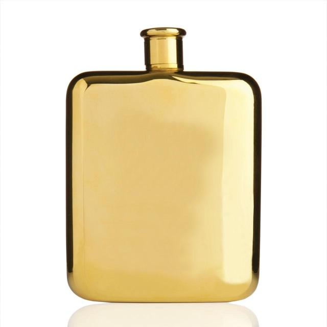 Viski 14K Gold Plated Hip Flask