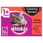 Whiskas 1+ Cat Pouches Creamy Soup Meaty Selection