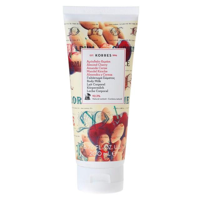 Korres Natural Almond Cherry Body Milk, Vegan