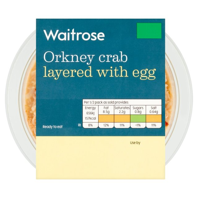 Waitrose Layered Orkney Crab With Egg