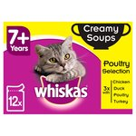 Whiskas 7+ Cat Pouches Creamy Soup Poultry Selection