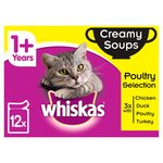 Whiskas 1+ Cat Pouches Creamy Soup Poultry Selection