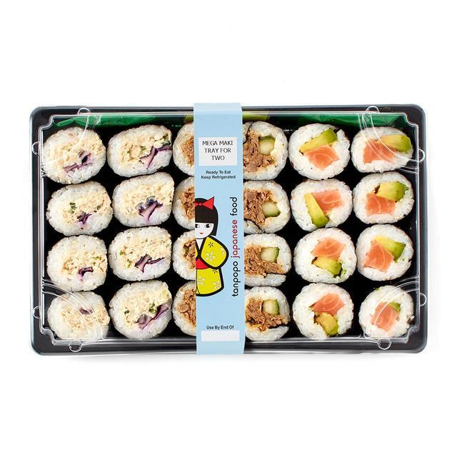 Tanpopo mega maki tray for two 560g from ocado for Waitrose canape selection