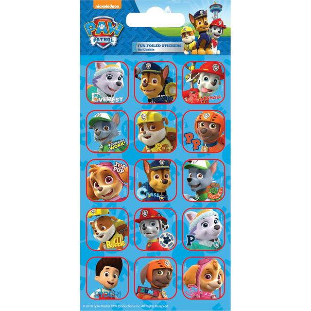 Paw Patrol Foil Stickers, 3yrs+