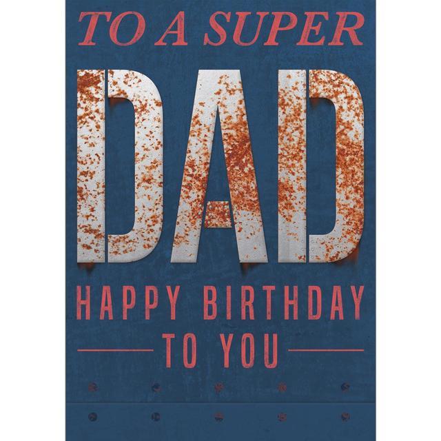 Dad Birthday Card Super Dad From Ocado