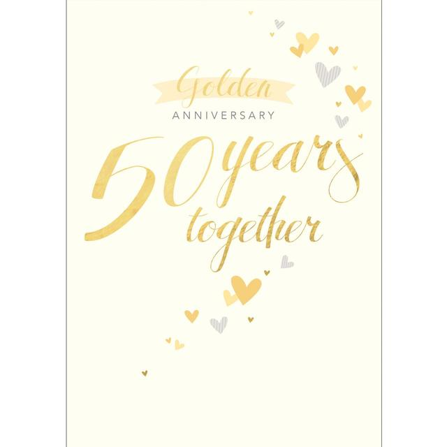 golden wedding anniversary card from ocado