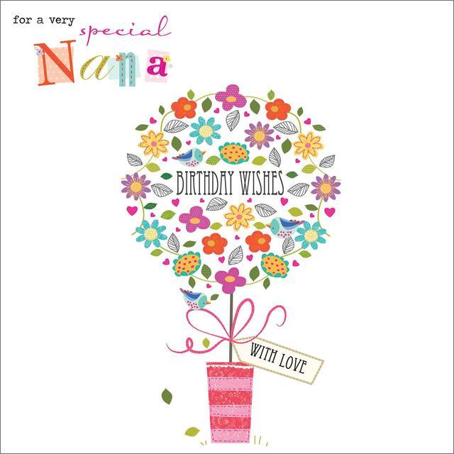 Nana Happy Birthday Card from Ocado – Nana Birthday Cards