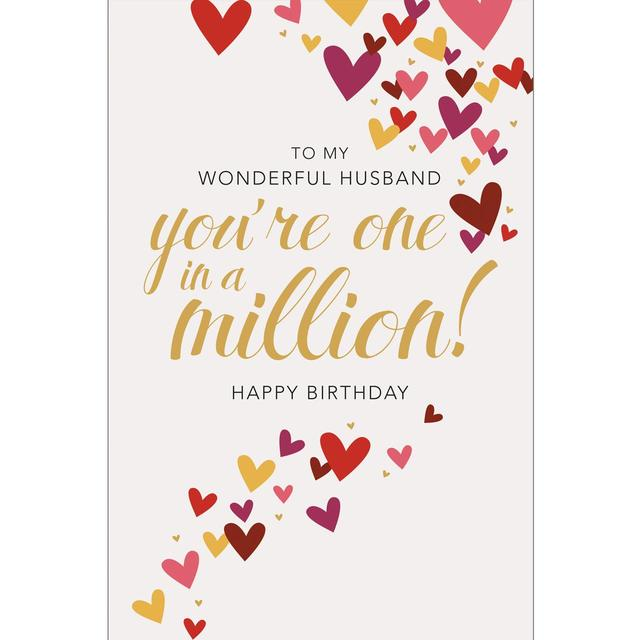 Husband Birthday Card One In A Million From Ocado