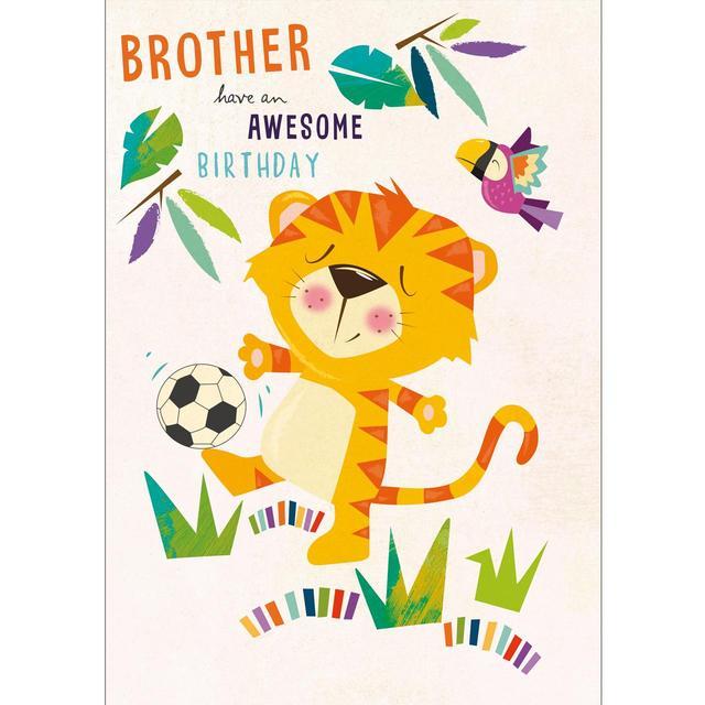 Brother Birthday Card Football Tiger From Ocado